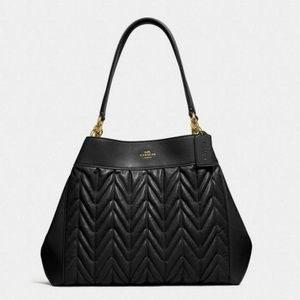 Coach Quilted Leather Lexy Shoulder Bag NWT Black